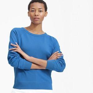 Everlane Crew Raglan Sweatshirt Royal Blue XL